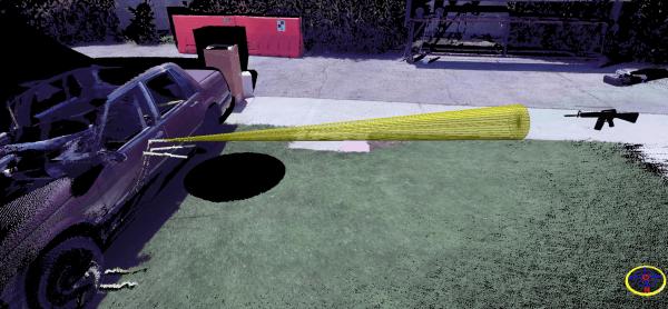 Ricostruzione scena del crimine 3d - Traiettorie