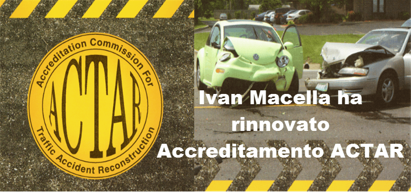 Ivan Macella Rinnova accreditamento ACTAR