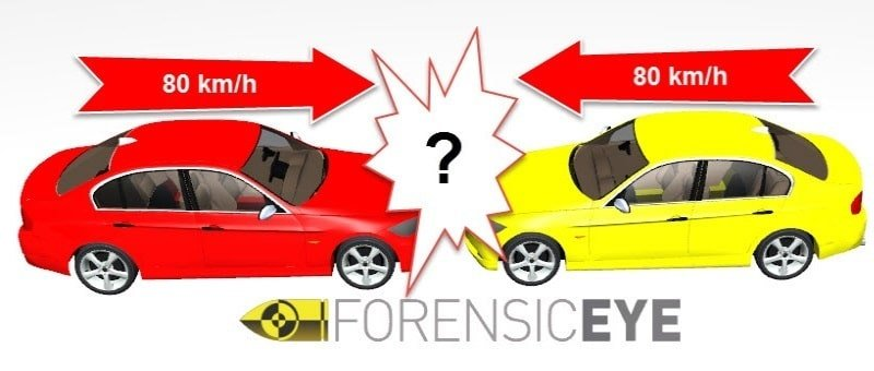 Urto frontale tra due auto - forensiceye