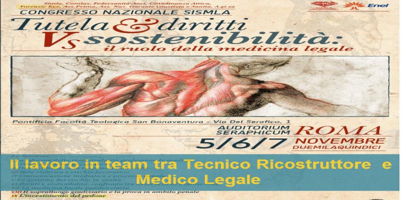 Investimento del pedone al Congresso Medicina Legale SISMLA