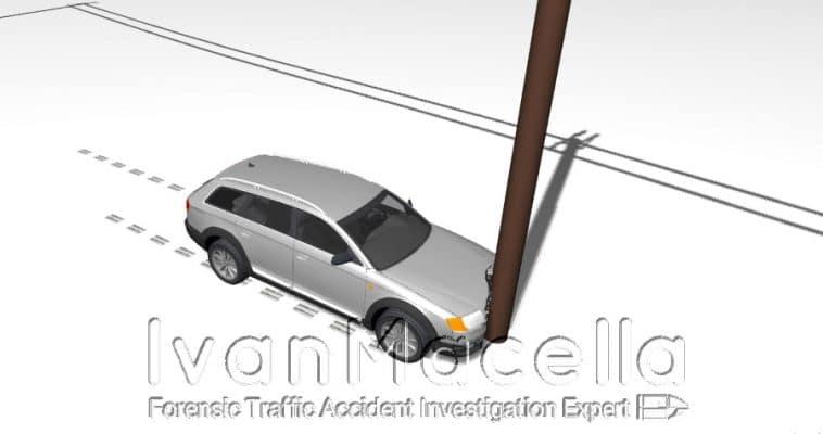 incidente contro un palo o albero